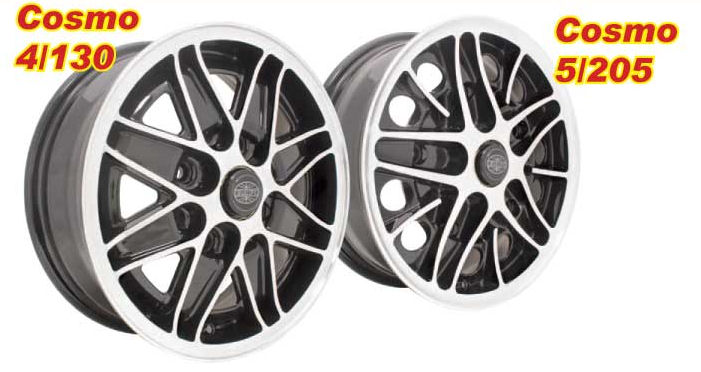 New Cosmo 5 Wheels for Wide 5 & 4 Lug VW